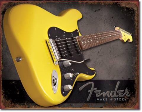 Tin Sign, Fender - Make History