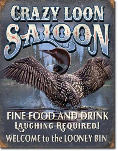 Tin Sign, Crazy Loon Saloon
