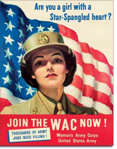 Tin Sign, WACs - Come Join