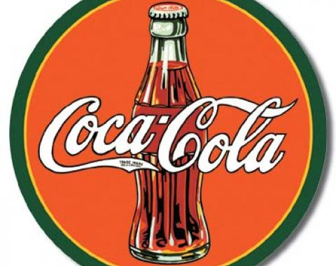 Tin Sign, COKE - Round 30's Bottle & Logo