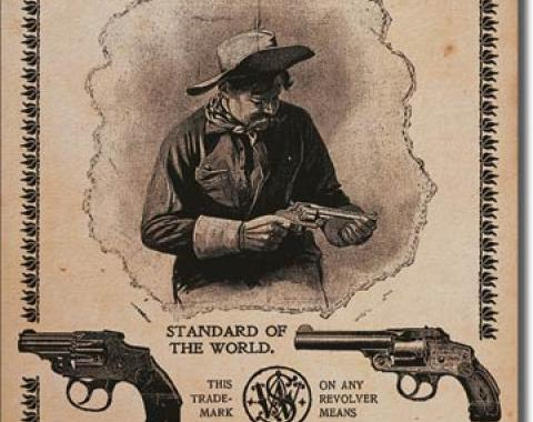 Tin Sign, S&W - Standard of the World