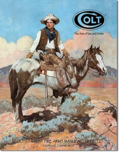 Tin Sign, COLT - Tex and Patches