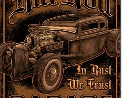 Tin Sign, Rat Rod Garage