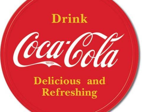 Tin Sign, COKE Button Logo