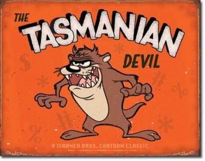 Tin Sign, Tasmanian Devil