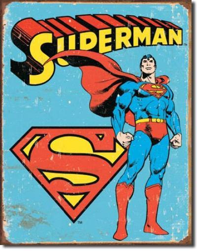 Tin Sign, Superman - Retro