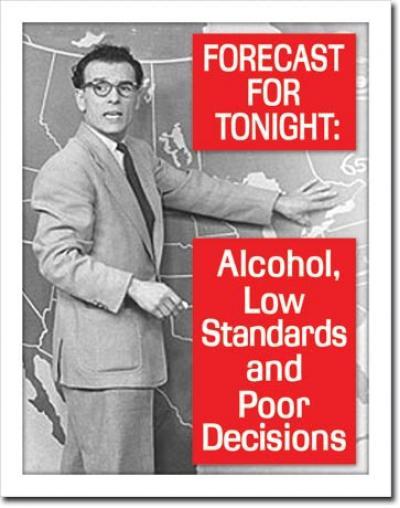 Tin Sign, Ephemera - Tonight's Forecast