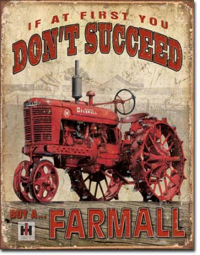 Tin Sign, Farmall - Succeed