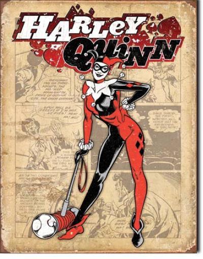 Tin Sign, Harley Quinn - Retro