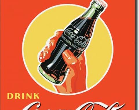Tin Sign, COKE Real Thing - Bottle