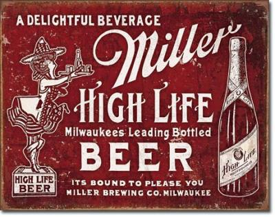 Tin Sign, Miller - Bound to Please