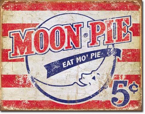 Tin Sign, Moon Pie - American
