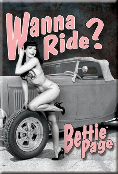 Magnet, Bettie Page-Wanna Ride