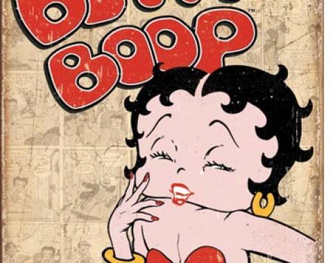 Tin Sign, Betty Boop Retro Panels