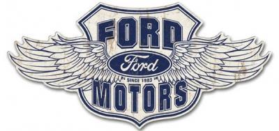 Premium Tin Sign, Ford Winged Logo