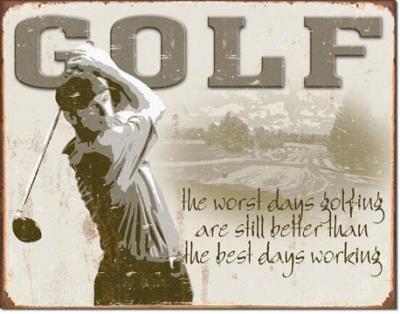 Tin Sign, Golf - Best Days