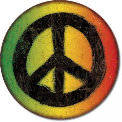 Tin Sign, Rasta Peace Sign