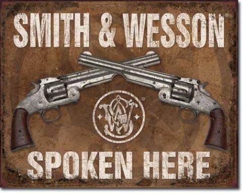 Tin Sign, S&W Spoken Here