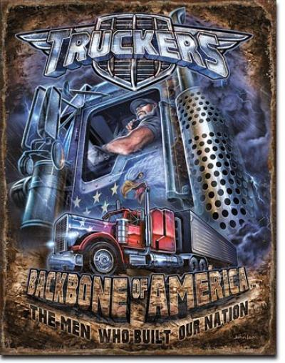 Tin Sign, Truckers - Backbone