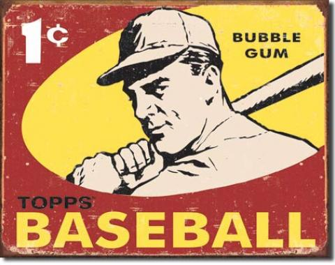 Tin Sign, Topps 1959 Baseball