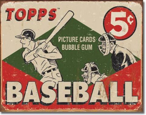 Tin Sign, TOPPS - 1955 Baseball Box