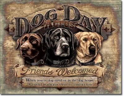 Tin Sign, Dog Day Acres