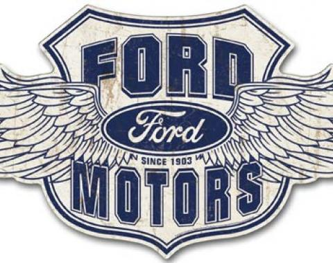 Premium Tin Sign, Ford Winged Logo
