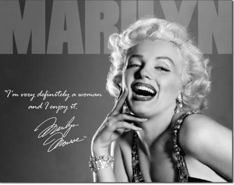 Tin Sign, Marilyn - Definately
