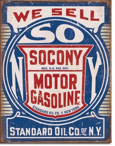 Tin Sign, Socony Gasoline
