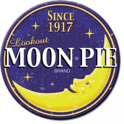 Magnet, Moon Pie Logo Round