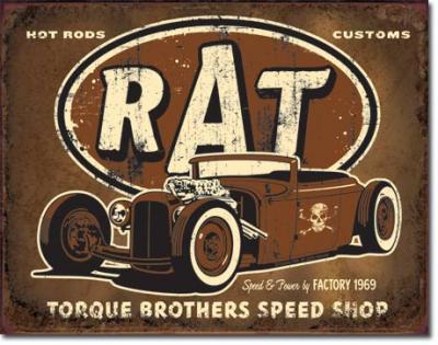 Tin Sign, Torque - Rat Rod