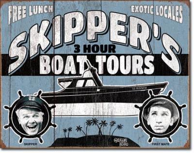 Tin Sign, Gilligan's Island - Skipper Tours