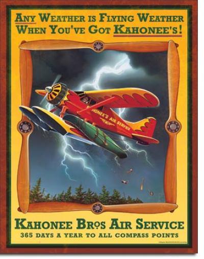 Tin Sign, Kahonee Air Service