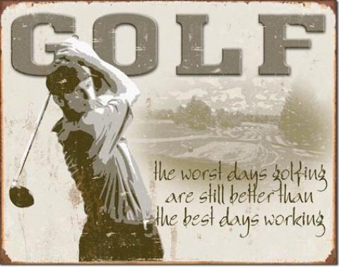 Tin Sign, Golf - Best Days