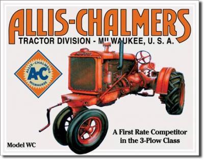 Tin Sign, Allis Chalmers - Model U
