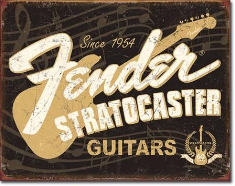 Tin Sign, Fender Stratocaster 60th