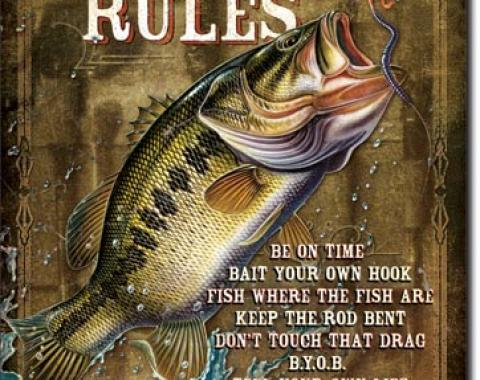 Tin Sign, JQ - Fisherman's Rules