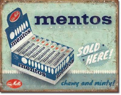 Tin Sign, Mentos - Sold Here