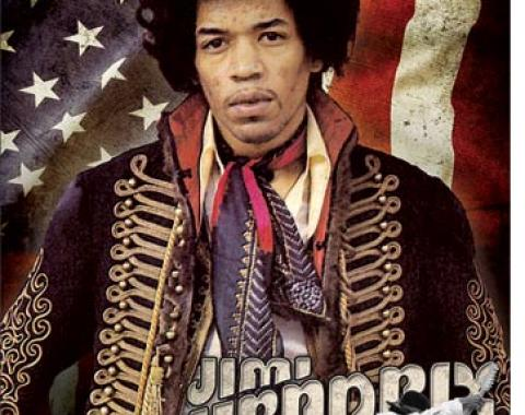 Tin Sign, Jimi Hendrix - Flag