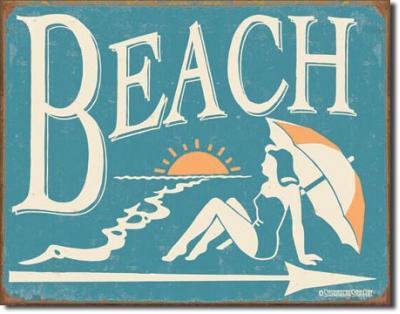 Tin Sign, Schonberg - Beach