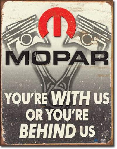 Tin Sign, Mopar - Behind Us
