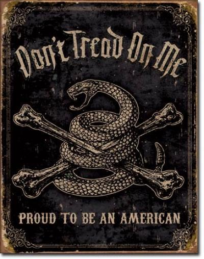 Tin Sign, DTOM - Proud American