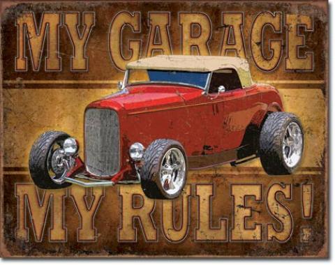 Tin Sign, My Garage - ROD