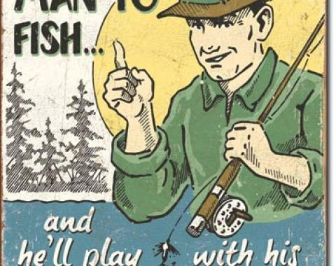 Tin Sign, Schonberg - Teach a Man to Fish