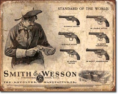 Tin Sign, S&W Revolver Manufacturer