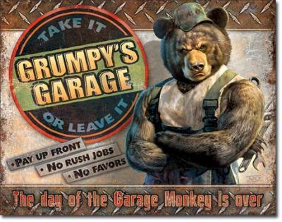 Tin Sign, Grumpy's Garage