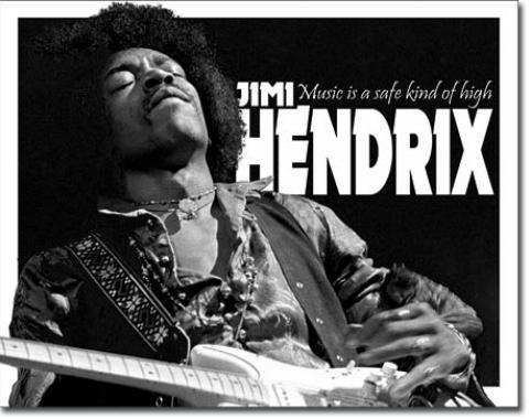 Tin Sign, Jimi Hendrix - Music High