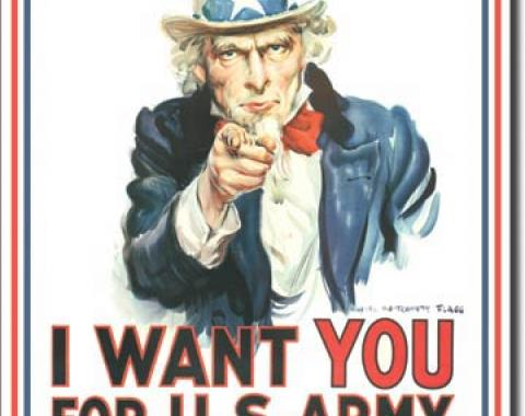 Tin Sign, Uncle Sam I Want You