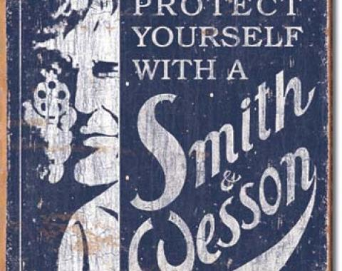Tin Sign, S&W - Self Preservation