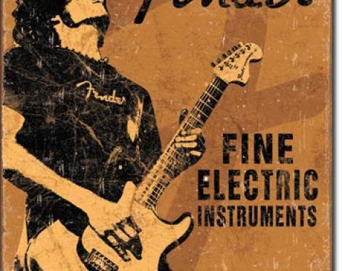 Tin Sign, Fender - Rock On